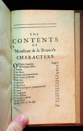 The Characters, or the Manners of the Age ... Made English by several hands. With the Characters of Theophrastus, translated from the Greek. And a prefatory discourse to them, by Monsieur de la Bruyere. To which is added, a Key to his Characters