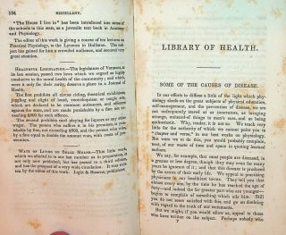 The LIBRARY of HEALTH, and Teacher on the Human Constitution ... Vol I.