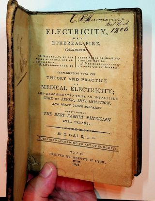Electricity, or Ethereal Fire, Considered : 1st Naturally, as the Agent of Animal and Vegetable...