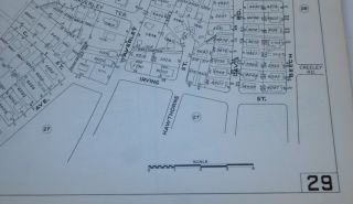"""Atlas Town of Belmont Massachusetts 1975 """"Compiled by the Belmont Engineering Department"""" Planning Board"""
