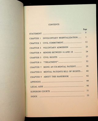 Your Rights As A Mental Patient In Massachusetts: A Handbook for Patients