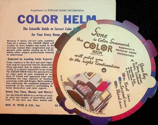 COLOR HELM - Supplement to Popular Home Decoration - the Scientific Guide to Correct Color...