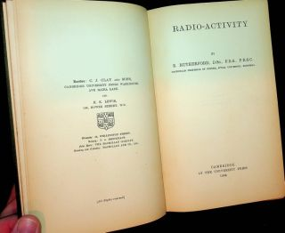 Radio-activity. E. Rutherford, Ernest