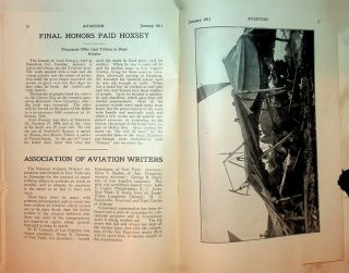 Aviation Vol 1 No 1 January 1911 [ includes Official Report of Los Angeles Meet ]