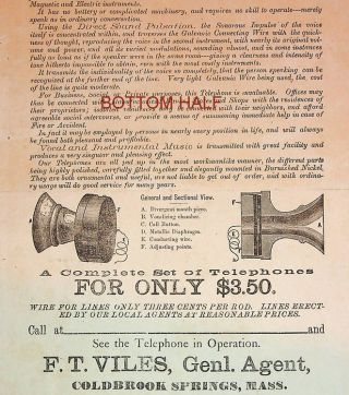 "Advertising ""broadside"" ] No More Monopoly by the Bell Telephone Company ... Holcomb's Patent..."