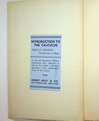 Introduction to the Calculus