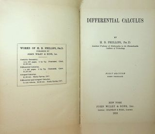 Differential Calculus. H. B. Phillips
