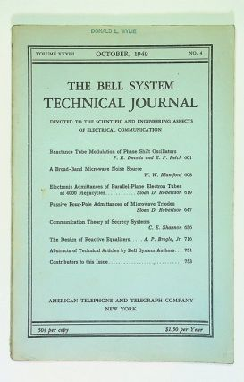 Communication Theory of Secrecy Systems [ IN The Bell System Technical Journal, Volume XXVIII,...