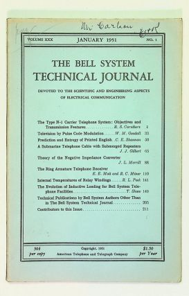 Prediction and Entropy of Printed English [ IN The Bell System Technical Journal, Volume XXX, No....