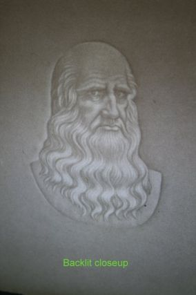 LEONARDO DA VINCI Chiaroscuro Watermark on light blue/grey paper