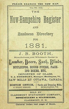 The New Hampshire Register, Farmers' Almanac, and Business Directory, for 1881. S. L. Farman
