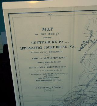 Map of the Region between Gettysburg, PA. and Appomattox Court House. VA. including all the...