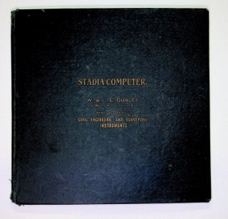 Stadia Computer [ cover title ] Cox's Stadia Computer [ volvelle title ]
