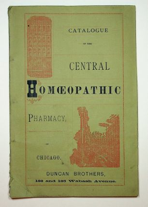 Homoeopathy ] Catalogue and Descriptive Price Current of Books, Medicines, and Physicians'...