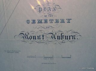 Plan of the Cemetery of Mount Auburn. Alexander Wadsworth