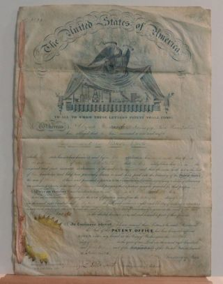 """[ American Scientific Patent No 2622 ] for """"Improvement in Water Wheels"""" May 12, 1842"""