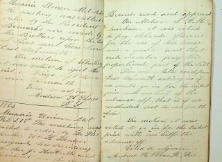 [ manuscript notebook ] Constitution and Rules of Order of the Mechanics Local Union No Eight Wareham, Mass, 1861