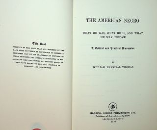 The American Negro : What he was, what he is, and what he may beome : A Critical and Practical...