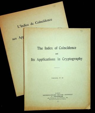 The Index of Coincidence and Its Applications in Cryptography : Publication No. 22 WITH L'indice...