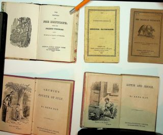 Collection of 9 various children's chapbooks. Rena Ray, Hilaire Le Gai, Miss Caroline F. Orne,...