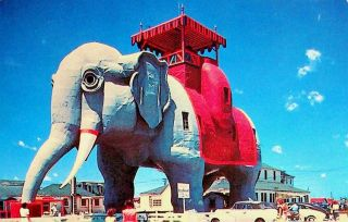 [ Advertising Cabinet Card ] The ELEPHANT BAZAAR ... The Colossus of Architecture ... West Brighton Beach, Coney Island [ NY ]