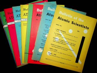 Bulletin of Atomic Scientists : a significant grouping of 60 issues from 1948-1957. Albert...