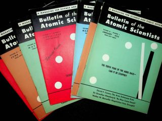 Bulletin of Atomic Scientists : a significant grouping of 60 issues from 1948-1957
