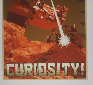"[ MARS exploration poster ] ""Insatiable Curiosity!"""