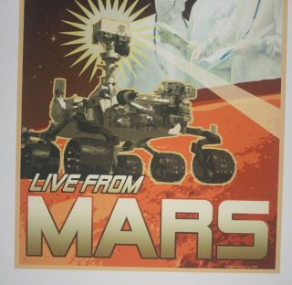 """[ MARS exploration poster ] """"Curiosity LIVE FROM MARS"""""""