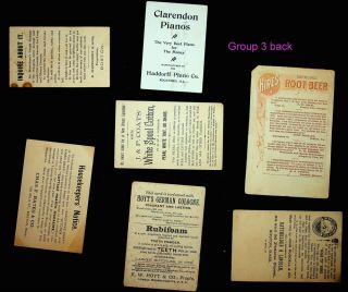 Collection of 27 trade cards and/or advertisements