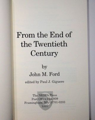 From the End of the Twentieth Century