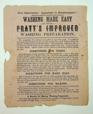 Broadside ] New discoveries! Important to housekeepers! [caption title] | Washing Made Easy |...