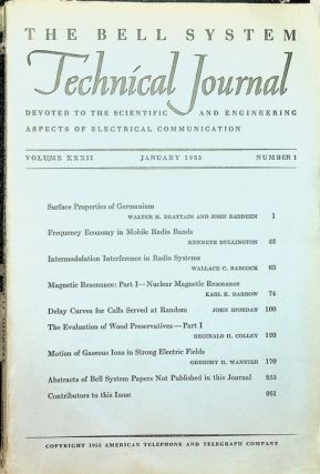 Surface Properties of Germanium IN The Bell System Technical Journal Volume XXXII Jan 1953,...
