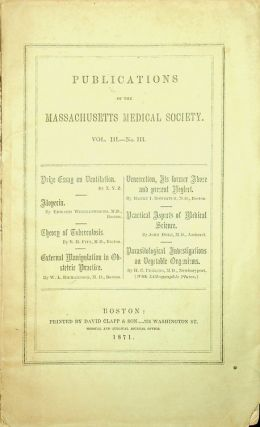 Publications of the Massachusetts Medical Society Vol III. - No III. X Y. Z., Edward...