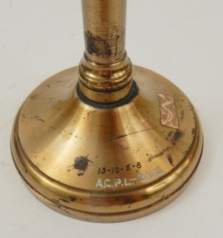 [ artifact, chemistry ] Massive J. Duboscq Paris demonstration prism on brass stand