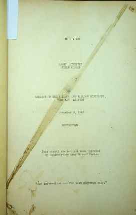 FM 4-188 : Coast Artillery Field Manual : Service of the Balloon and Balloon Equipment, Very Low...