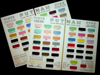 Sample books ] Color chart : Putnam fadeless dyes, tints : the original one-package dye [ 2...