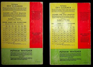 [ Sample books ] Color chart : Putnam fadeless dyes, tints : the original one-package dye [ 2 examples ]
