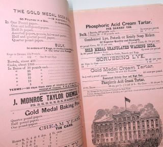 [ ephemera, food related ] Gold Medal is the Best : Established 1844. Office of J. Monroe Taylor CHEMICAL WORKS ... herewith find my price-list upon the Gold Medal Soda and Saleratus, formerly put up under the name of my partner, Herrick Allen