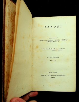 Zanoni in Two Volumes : Vol. II