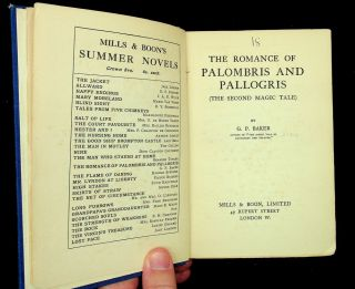 The Romances of Palombris and Pallogris (The Second Magic Tale)