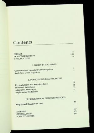 Contemporary Science Fiction, Fantasy, and Horror Poetry : A Resource Guide and Biographical Directory