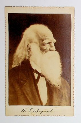 Photograph, cabinet card] Cabinet card of poet and editor William Cullen Bryant with facsimile...