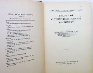 Theory of Alternating-Current Machinery
