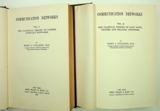 Communication Networks [Two volumes] Vol. I: The Classical Theory of Lumped Constant Networks WITH Vol II: The Classical Theory of Long Lines, Filters and related networks