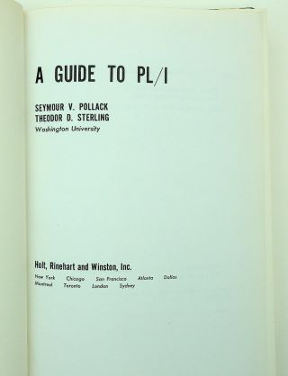 A Guide to PL/I