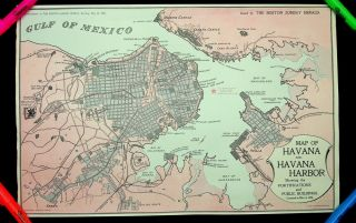Map of Havana and Havana Harbor Showing the FORTIFICATIONS and PUBLIC BUILDINGS Corrected to May 3, 1898