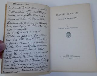 David Harum: A Story of American Life. Edward Noyes Westcott